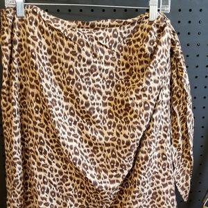 Diane Gilman Wrap Skirt Size 2X 100% Silk